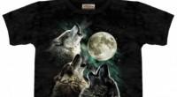 футболка с 3 волками