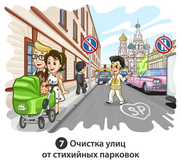 7 потенциальное нововведение. Очистка улиц от стихийных парковок