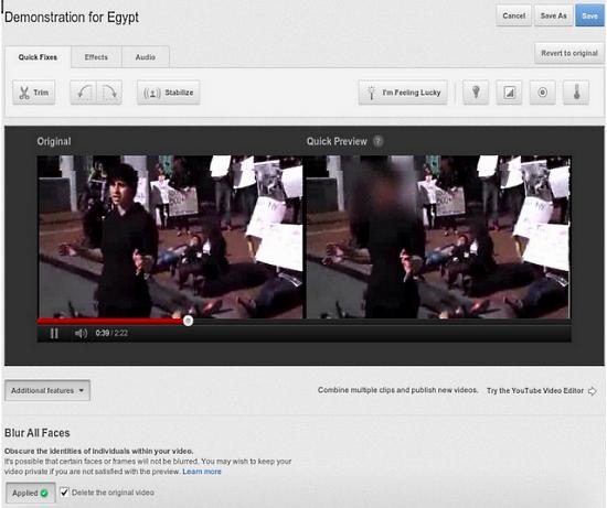 YouTube научился размывать лица