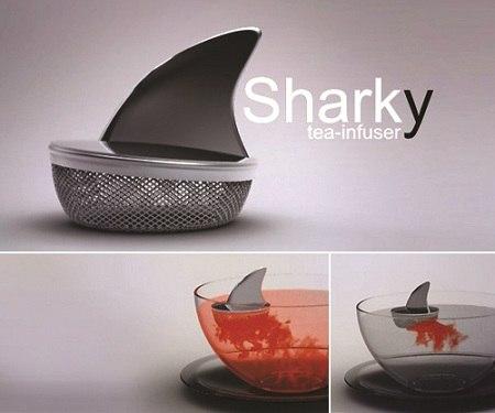 Заварник для чая в виде акульего плавника