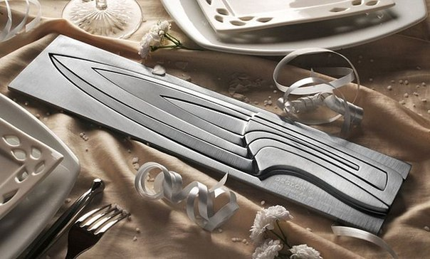 Дизайнерский кухонный нож в стиле матрёшки